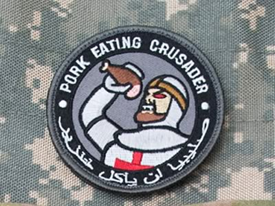 Pork Eating Knights Templar Crusader Patch Huge Hit With Troops In Afghanis
